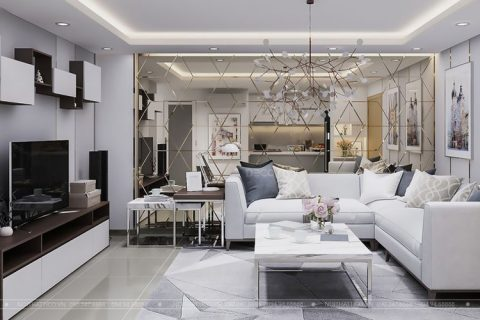 Thiết kế và thi công nội thất chung cư Star City Lê Văn Lương 70m2 – Anh Linh