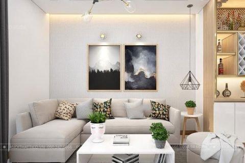 Thiết kế nội thất chung cư 75m2 tại tòa nhà The One Gamuda Land