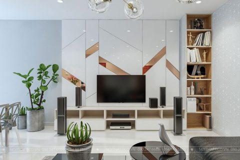 Thiết kế nội thất chung cư 90m2 CT14A2 Ciputra