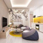 Thiết kế thi công nội thất chung cư 43m2 Hateco – Chị Hằng