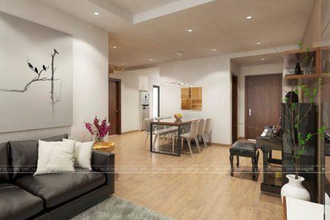 Thiết kế và thi công chung cư chị Thanh – Goldmark City 136 Hồ Tùng Mậu