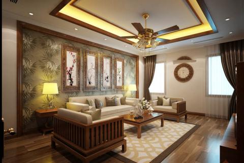 Thiết kế nội thất chung cư 120m2 theo phong cách Á Đông – Tại sao không?