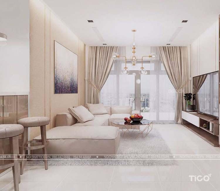 Hoàn hảo với mẫu thiết kế nội thất chung cư 140m2 dành cho 3 thế hệ