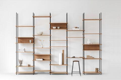 Hệ giá để đồ thông minh dùng nêm gỗ – Noithatmagazine