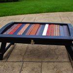 Biến chiếc bàn cũ thành một tác phẩm nghệ thuật từ những dây nịt da – Noithatmagazine